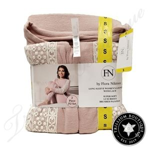 Flora Nikrooz Women's Lounge Pajama Set Pink Lace